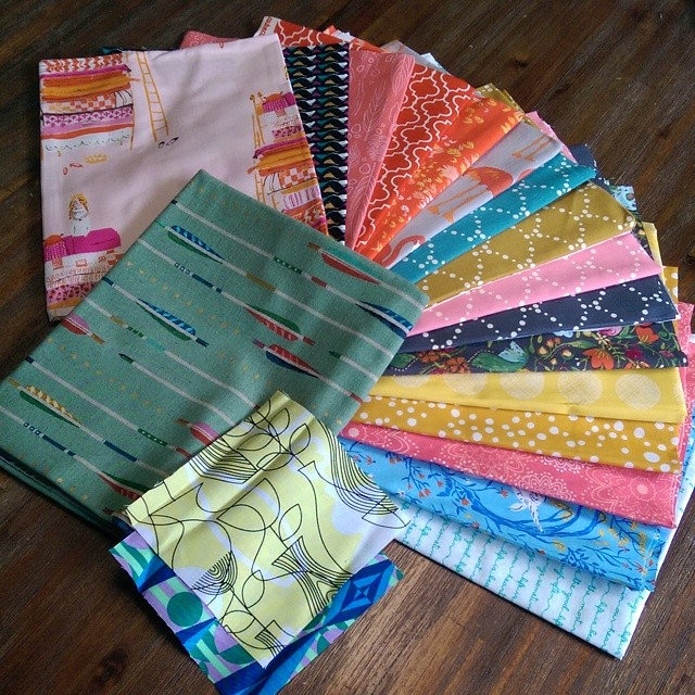 And my most fabulous fabric order from @intrepidthread finally got the canvas I needed and was very restrained in gathering colours I needed for the stash as well as a few I just really wanted!!