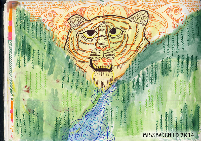 Tigar amongst the mountains