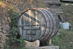 Wine barrel in Alberobello, Apulia (Italy)