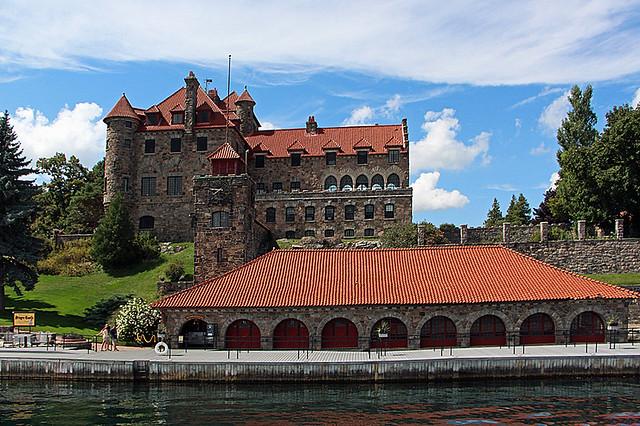 Singer Castle on Dark Island