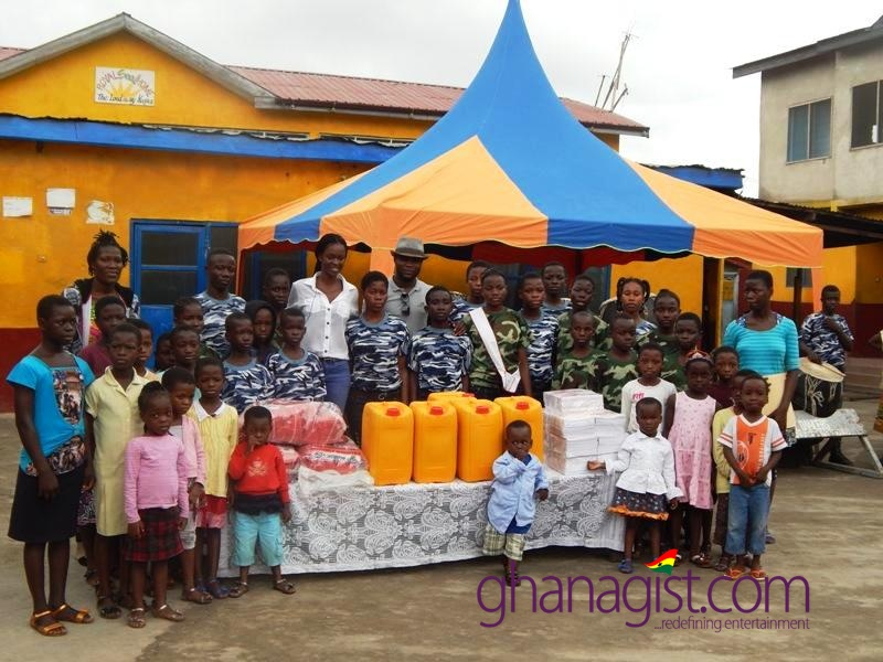 Former Miss Ghana Giuseppina Baafi celebrates birthday with the children of Royal Seed Home Orphanage
