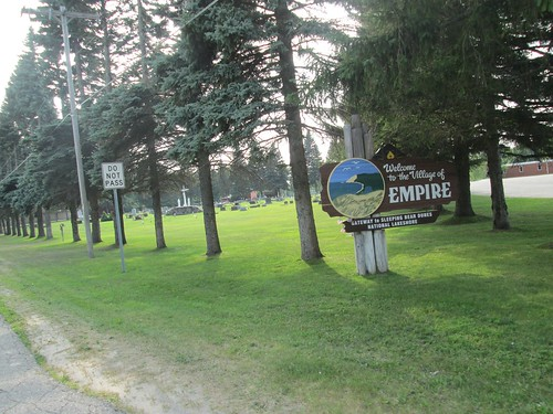 Empire town sign, on the return
