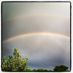 Somewhere, over the rainbow. Double #rainbow in #Denver