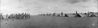 The 22nd (French Canadian) Battalion bivouacked behind the lines, Battle of Amiens, August 1918 / Le 22e Bataillon (canadien français) bivouaque derrière le front à la bataille d'Amiens, en août 1918