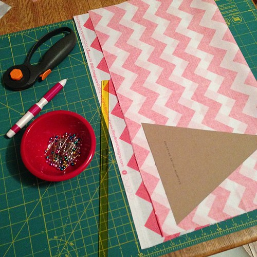 231:365 Chevron bunting in the works for a little Back to School party.