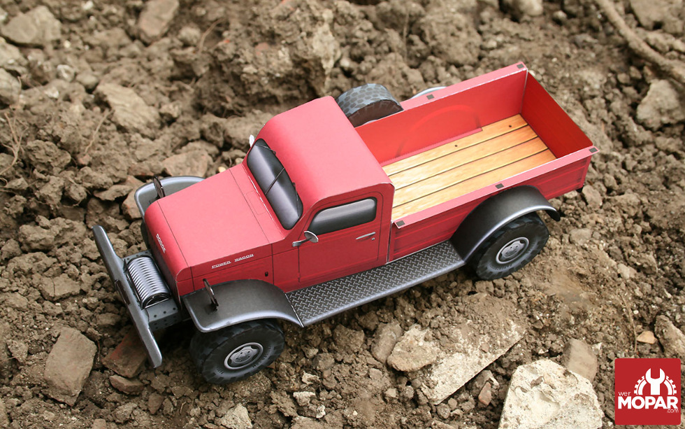 Paper Power Wagon Hauls Whatever