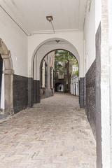 "One of the corridors to the inner square of ""Het Hof"""