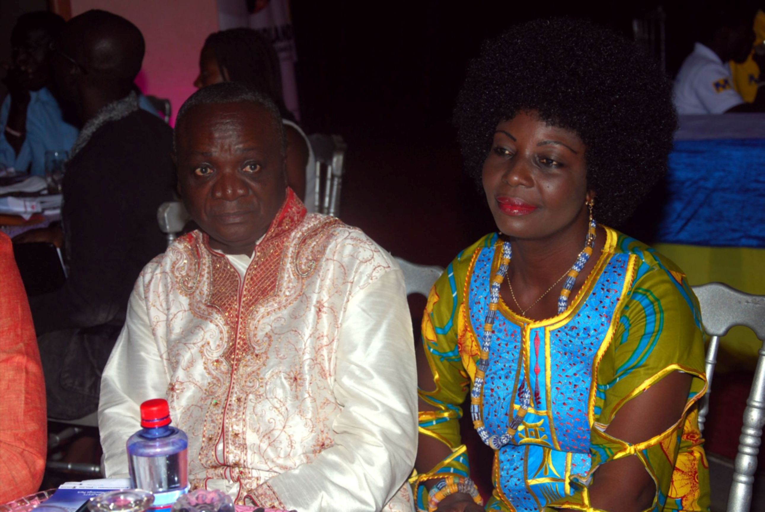 Nana AMpadu and Wife