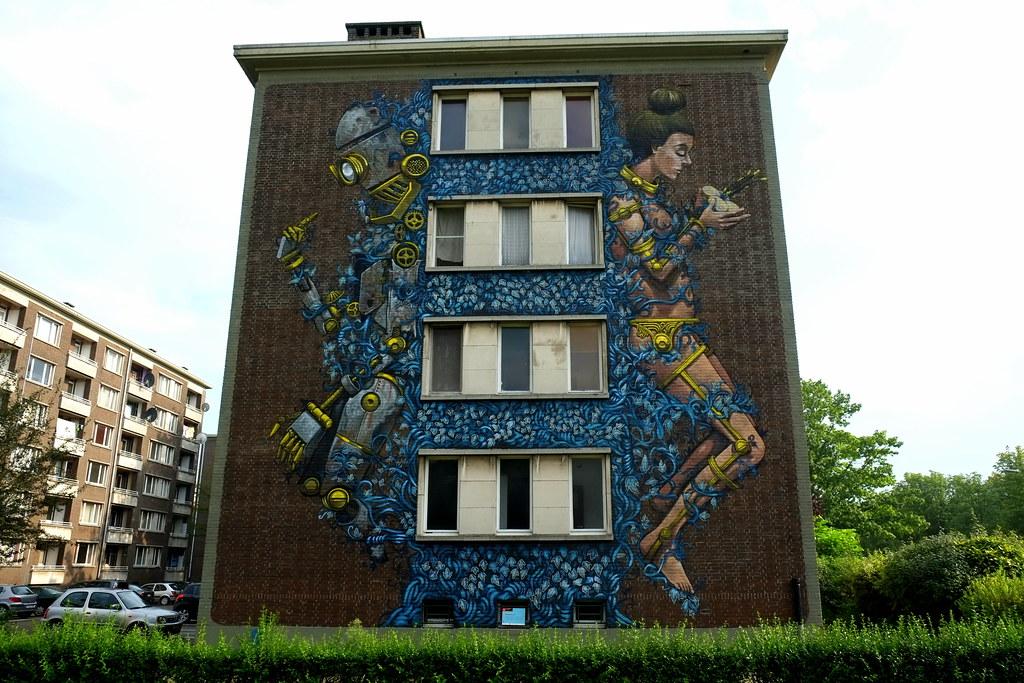 streetart | pixelpancho | antwerp-luchtbal. belgium