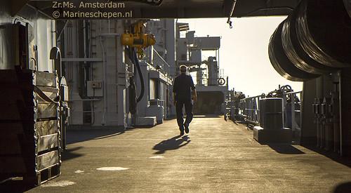 Eén van de open dekken van de Amsterdam