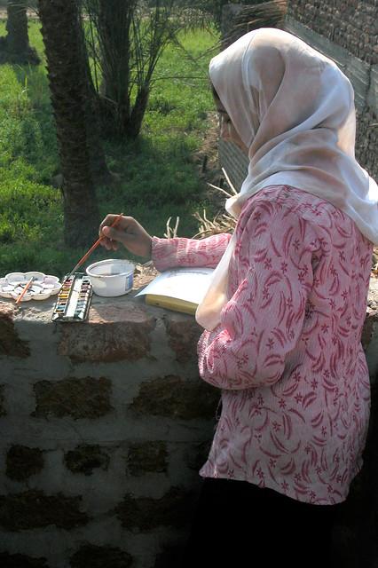 Asma - Aquarelle en Egypte