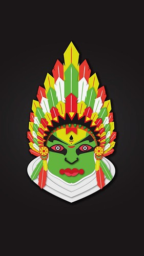 2 Indians ( Kathakali & Native Indian) #Indian #India #kathakali #tradition #Mumbai #illustration #GraphicDesign #characterdesign #art #colors #ajaydevar #NativeAmerican #HeadDress #feathers #kerala  P.S : Please do not use without my permission.