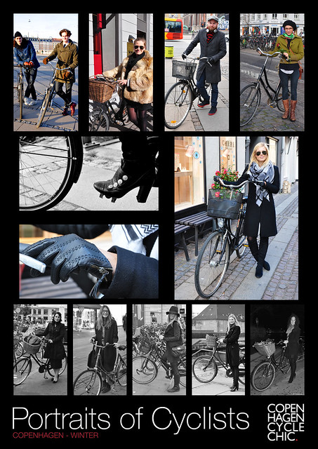 Poster - Portraits of Cyclists - Winter