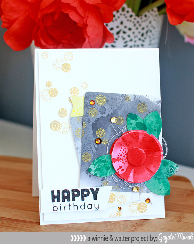Happy birthday bling card