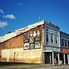 Downtown Iuka, MS and the civil war memorial mural.