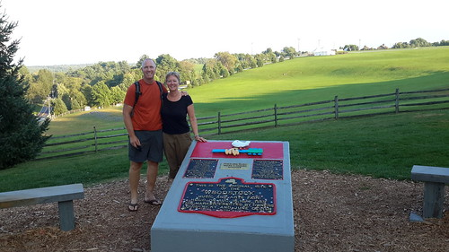 F & L at Max Yasgur's farm - site of the Woodstock Music Festival in August 1969