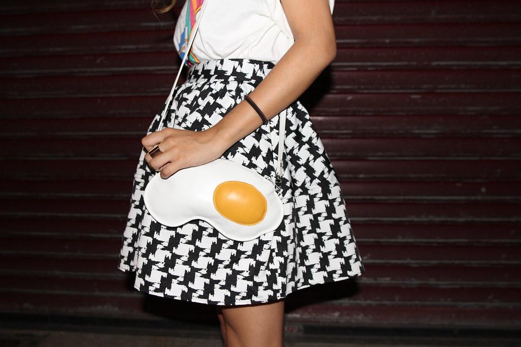 Fried Egg Clutch Bag