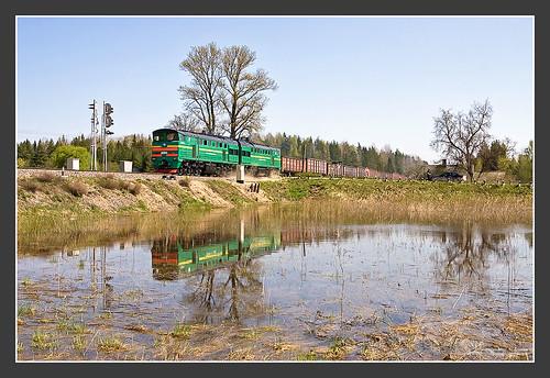 kandara tukumarajons lettland 2te10 2te10u rail bahn lokomotivfabriklugansk 2тэ10y latvija latvijasdzelzceļš 2тэ10 vlak spoorwegen railroad railway treno trein поезд