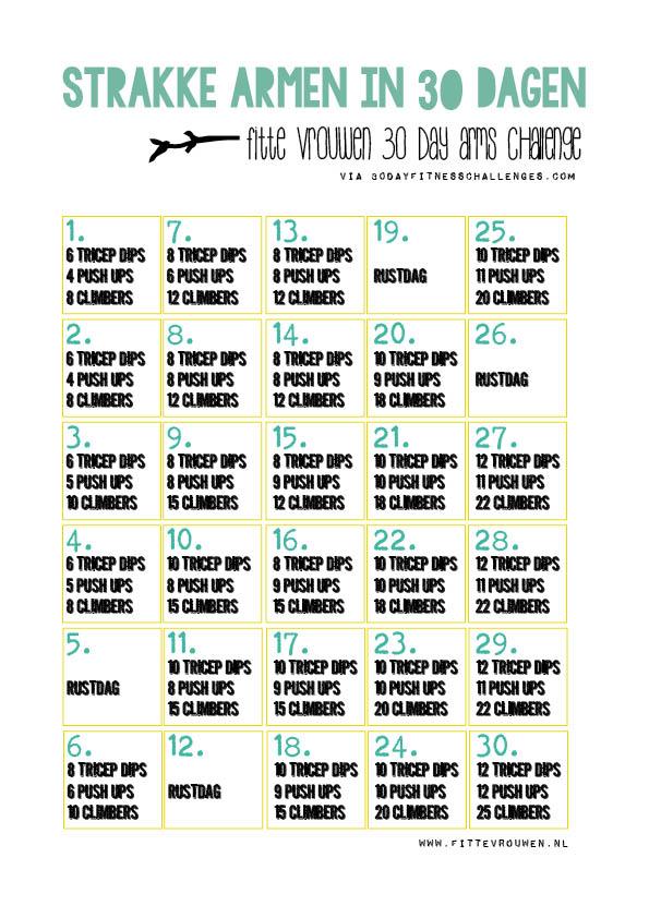 fitness schema afvallen buik