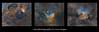 Narrowband nebula triptych