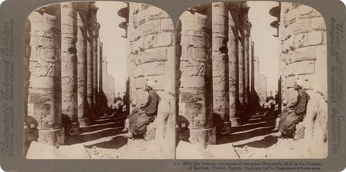 monument blackwhite stereoscopic paperprint positive albumen