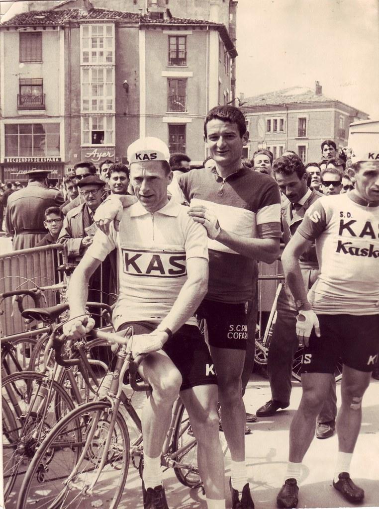 Enzo Pretolani con Gabica vincitore della Vuelta 1966