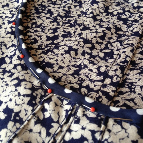 Floral Polka Dot Blouse - In Progress