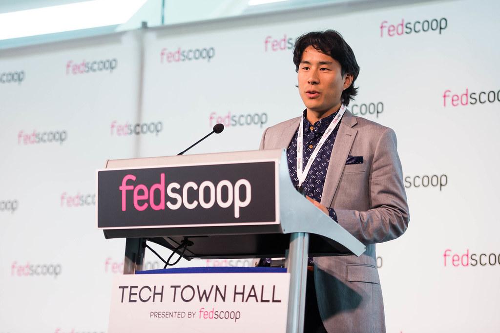 Pat Yongpradit speaking at Fedscoop
