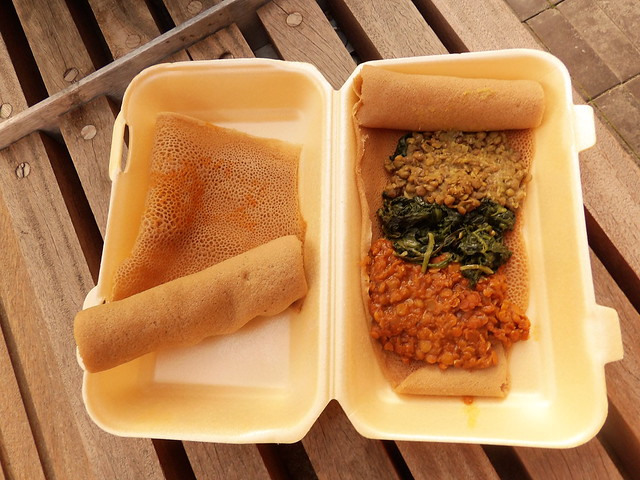 Ethiopian food from Injera