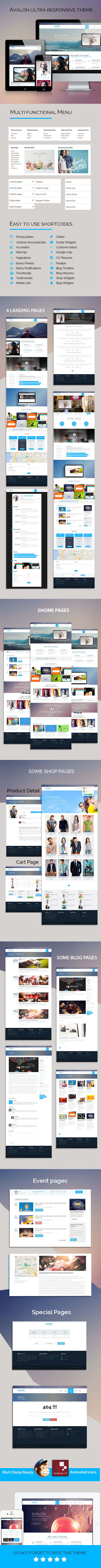 Avalon - Commerce Multipurpose HTML Theme