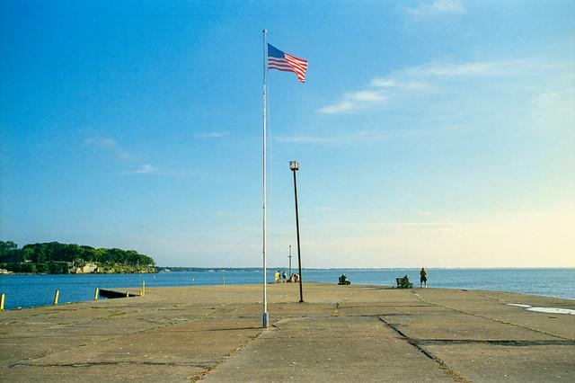Flag on Pier