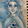 Still trying to remember how to paint and draw #art #acrylic #girl #eye #sketch