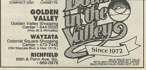 10/30/90 Iron Maiden (Meet Eddie!) @ Down In The Valley, Golden Valley, MN (Ad-Bottom)