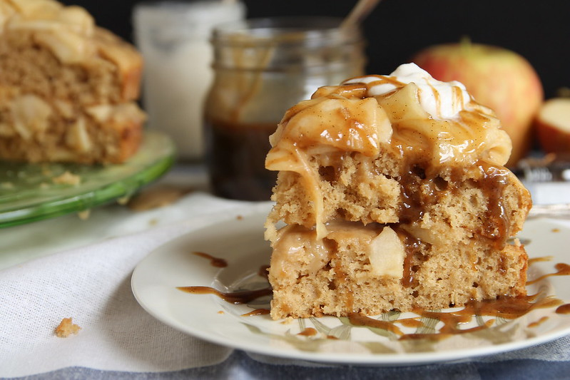 Care of a slice of Caramel Apple Layer Cake?