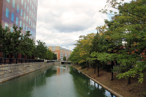 city trees clouds river canal day cloudy providencerhodeisland providenceri riverreflection
