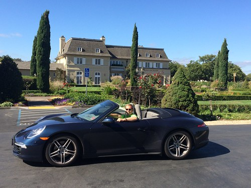 With my car at the Kendall-Jackson winery in Sonoma