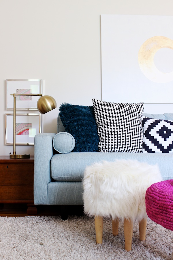bright kid friendly living room by mandy pellegrin - Kid Friendly Couches