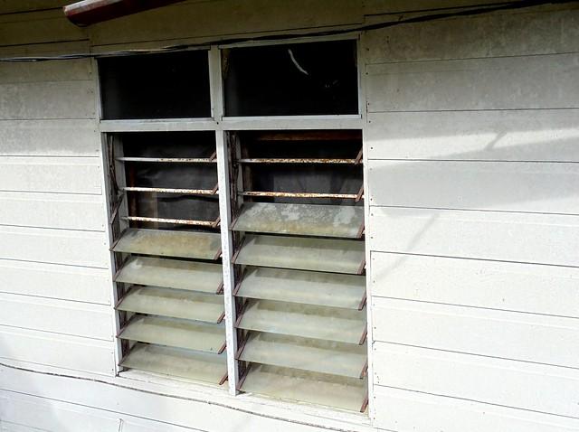 Broken window panes