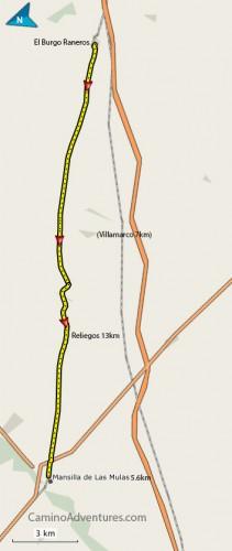El-Burgo-Raneros-to-Mansilla-de-Las-Mulas-Map-211x500