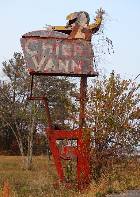 GA, Chatsworth-U.S. 411 Chief Vann Motel Ghost Neon Sign