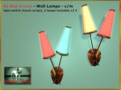 Bliensen - Be Bop A Lula - Wall Lamps
