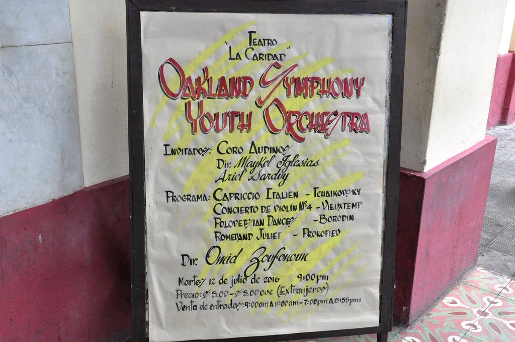 Oakland Symphony Youth Orchestra 2016 Tour of Cuba