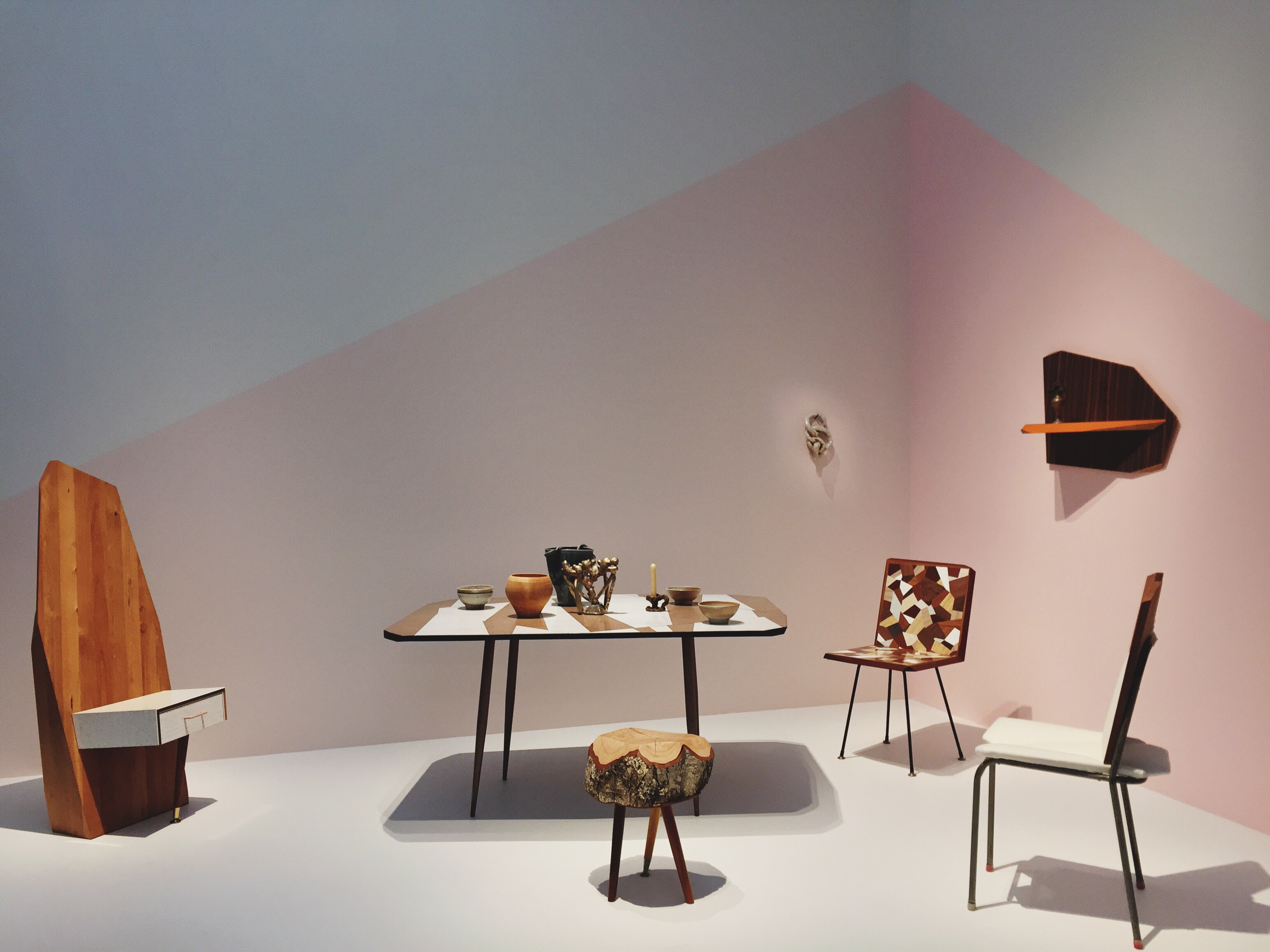 Martino Gamper furniture at the Te Papa Museum in Wellington