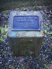 Clarence F. Pautzke Salmon Pond plaque