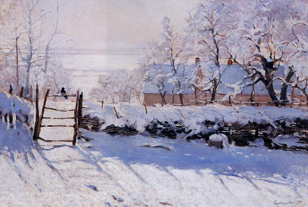 The Magpie by Claude Oscar Monet - 1869