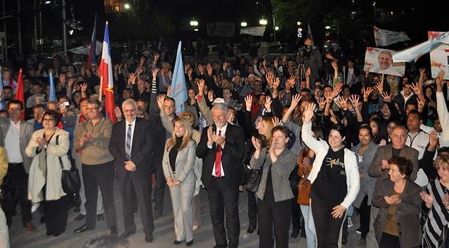 Кликни за фотогалерија - Митинг на ГРОМ во Штип