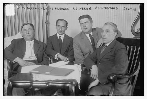 W.D. Mahon, Louis Fridiger, P.J. O'Brien, W.B. Fitzgerald (LOC)