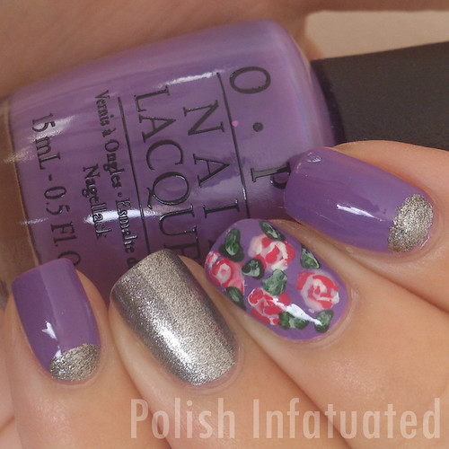 purple, silver and roses2