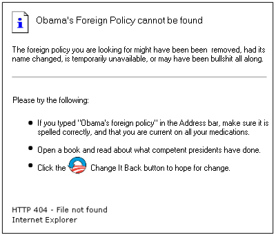OBama's Foreign Policy: Error 404