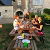 BBQ at Chateau de Miniere with Rose and rouge de Miniere + nice  weather!